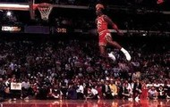 Michael Jordan free throw dunk