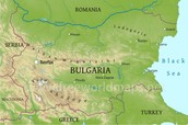 Physical Map of Bulgaria
