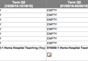 Home and Hospital Schedule