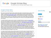 Google Scholar Blog Post: Alerts