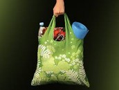 Using a bag for shopping.