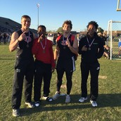 Boys placed 1st in the 4 x 100 meter relay!