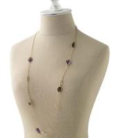 Pippa Stone Necklace (purple) $30