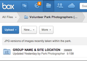 Volunteer Park Photographers (JPGs) Folder on Box