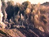 Demolition of a mountaintop