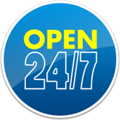 We're also open 24/7