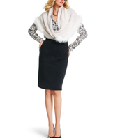 Twist Scarf, Shatter Blouse, Overlay Pencil Skirt