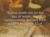 Proverbs 11:4