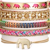 "Create a fun ""arm party"" of bracelets!"