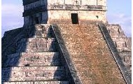 this is a picture from the upper part of chichan itza