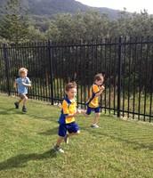 Samuel and Teddy running well!