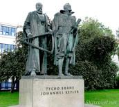 Tycho Brache and Johannes Kepler statue in Prague Denmark
