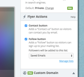 2. Select or Deselect your Flyer Actions