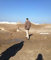 Jeff Walking on the Beach