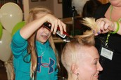 Lynnae, Heidi's Daughter helped the shave!