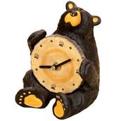 marble bear clock