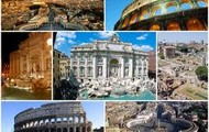 Collage of Sights in Rome