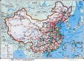 Transportation map of China