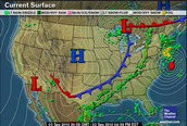 Weather Map of Cold Front