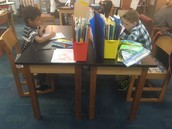 2nd grade working hard