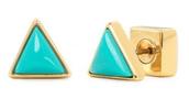 Deja Vu Stone Studs, Turquoise $39