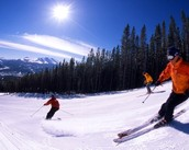 Skiing in the Beautiful Mountains