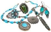 jewelery that the Tiguas wore