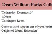 Dean William Parks Colloquium Series - Dr. Brent Cusher