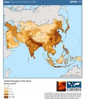 Population Map of Asia