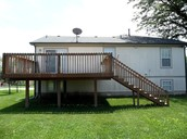 Backyard with deck.