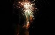 Brown deer fireworks