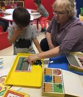 Miss Jean helps us!