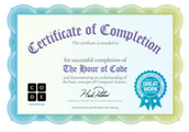 Print a Certificate for your Class or Individual Students for participating in Hour of Code