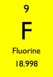 Fluorine's protons, newtons, electrons and valance electrons.