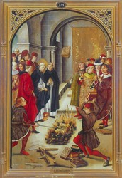 The Burning of the Books from Scenes from the Life of Saint Dominic Guzman