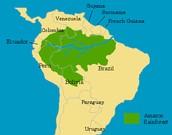 Amazon Rain Forest Map: