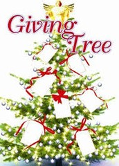 Friday, Dec. 6th, Christmas Giving Tree gifts are due back, with tags, unwrapped