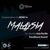 Electrolux Asia Pacific Excellence Award