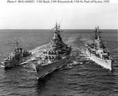 Battle ships from the Korean War