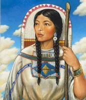 Sacagawea explores the new land
