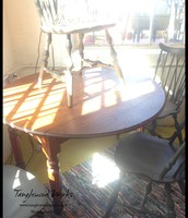 $345 - Restored Oak Dropleaf Table