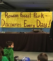 We arrive for lessons to the Rowan Fossil Park.