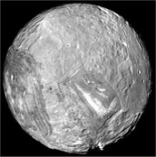This is a picture of Miranda, just one of Uranus' moons