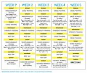5 week Training Schedule