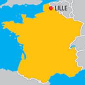 Ici est Lille sur la Carte