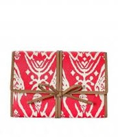Bring it - Jewelry Roll - Red Ikat