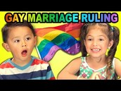 Kid's React to Gay Marriage Ruiling