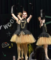 Megan, Halle, and I performing our trio.