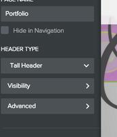 Edit HEADER type