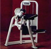 Arm Curl Machine from front